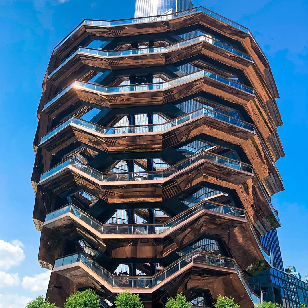 Love the architecture of the Vessel at Hudson Yards. ??